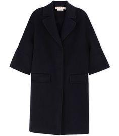 Marni Black Wool & Cashmere Coat