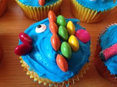 Under the Sea fish cupcakes