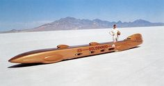 On this day in 1965, brothers Bill and Bob Summers set a world land-speed record—409.277 miles per hour—on the Bonneville Salt Flats in Utah. They did it in an amazing, hemi-powered hot rod they called the Goldenrod. The record would stand for more than a quarter-century. Today, the Goldenrod is on display at the Henry Ford Museum in Dearborn, Mich.