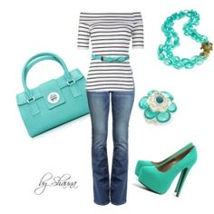 Greeny Blue Outfit