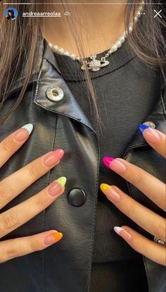 Aycrlic Nails, Swag Nails, Hair And Nails, Grunge Nails, French Manicure Nails, French Manicure Designs, Glitter Nails, Stylish Nails, Trendy Nails