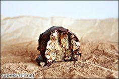 Nydelige karamellkuler med crunch (rullet i tørket bokhvete) #healthy #energybar #energikule #dates #dadlar #caramel