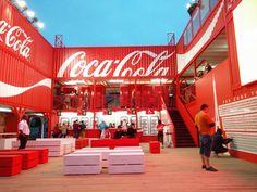 Stand de Coca cola  Fan Zone