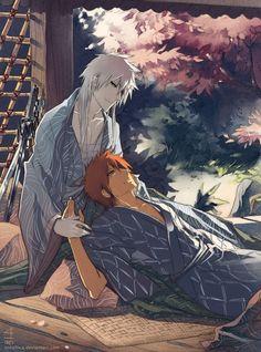 Image - ☼ Shirosaki x Ichigo ☼ - L'alliance du romanesque et de la virilité,. Bleach Manga, Bleach Fanart, Anime Manga, Anime Guys, Anime Art, Kawaii Chibi, Kawaii Anime, Bleach Couples, Otaku