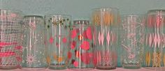 A group to showcase vintage drinking glasses. Vintage Dishes, Vintage Glassware, Vintage Kitchen, Vintage Cocktails, Antique Glass, Danish Modern, Vintage Patterns, Vintage Looks, All The Colors