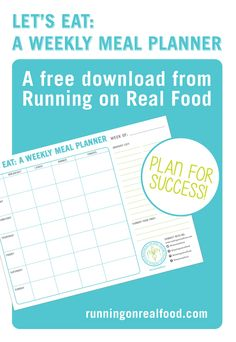 A free weekly meal planner template: plan ahead for healthy eating success! #cleaneating