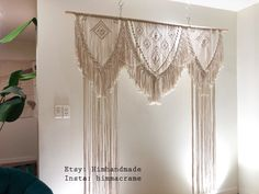 Curtains For Sale, Door Curtains, Head Table Wedding Decorations, Window Coverings, Window Treatments, Wedding Arch Rustic, Macrame Curtain, Backdrops, Hanging Basket