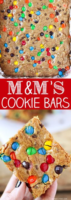 M&M'S Chocolate Chip Cookie Bars