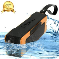 Amazon.com: Portable Outdoor,Shower Bluetooth Speaker with 12 Hour Rechargeable Battery Life,A Memory Card As A Gift,IP65 Waterproof,10M,Dust proof,Drop Resistance ,Pairs with All Bluetooth Devices (Orange): Home Audio & Theater