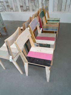 Piet Hein Eek Stoelen - chairs - scrapwood - lumber - sloophout - dutch design - designer - love