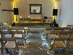 The Barn at Dalduff Farm Indoor Ceremony, Wedding Mood Board, Conference Room, Barn, Wedding Ideas, Space, Table, Furniture, Home Decor