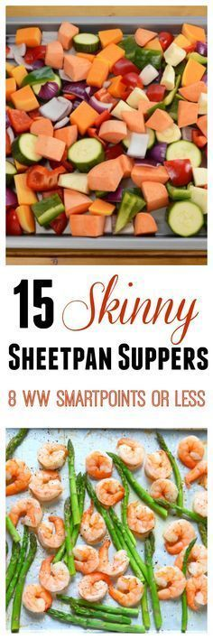 15 Skinny Sheet Pan Supper Recipes for Weight Watchers with 8 SmartPoints or Less