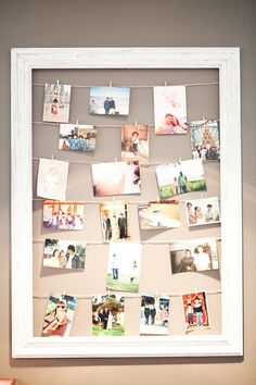 20 Cool DIY Photo Collage For Dorm Room Ideas The best thing about having a dorm room is able to decorate a dorm room as you wish. There are so many options that you can apply decorations out there, but my personal favorite is a photo collage Diy Photo, Photowall Ideas, Photo Deco, Hanging Photos, Photo Hanging, Hanging Pictures On The Wall, Framed Pictures, Diy Hanging, Family Pictures