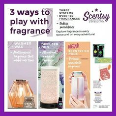 Three ways to enjoy scentsy. What is your fav?
