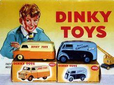 Dinky Toys Bedford CA and Morris-Commercial J Series van