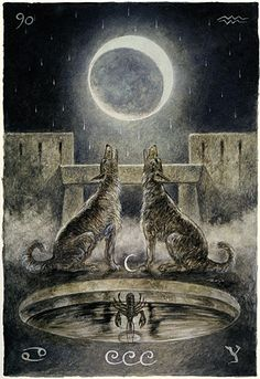 18. The Moon - The focus of this card is on inner disturbances or feelings of disquiet or dread or foreboding. Situations are deceptive or changeable in whatever area is important to you at the moment.