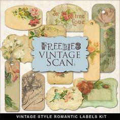 Far Far Hill: Freebies Vintage Style Romantic Labels