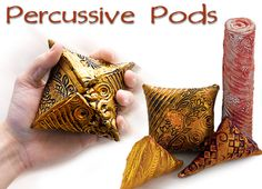 """FAB written and Video Tutorial to DIY a custom Rattle, or as they call them """"Percussive Pods"""". Reminds me of 'Rainsticks'! And it's EASY!"""