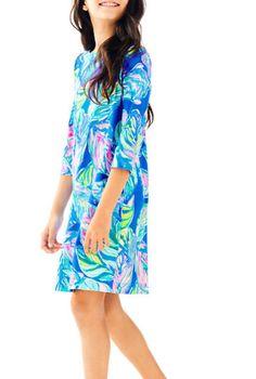 New Lilly Pulitzer GIRLS MINI SOPHIE DRESS Multi Casa del sol Small Blue M XL
