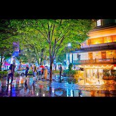Rainy Friday night in Harajuku tonight!