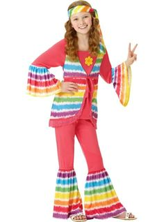 Daisy Hippie Girlu0027s Costume | Pinterest | Costumes Halloween costumes and Hippie costume  sc 1 st  Pinterest & Daisy Hippie Girlu0027s Costume | Pinterest | Costumes Halloween ...