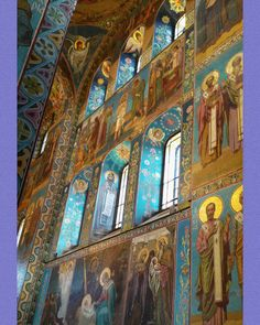Printable wall poster. The interior of The Church of the Savior was designed by some of the most celebrated Russian artists of the day—including Viktor Vasnetsov, Mikhail Nesterov and Mikhail Vrubel.