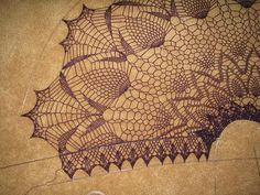 Crochet Shawls: Crochet Lace Shawl Cape - Gorgeous Crochet Pineapple Lace