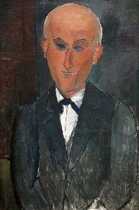 Max Jacob (12 juli 1876 - 5 maart 1944) Portret door Amedeo Modigliani, 1916