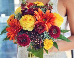 Fall Flowers-Fall Bouquet-Fall Wedding-Fall by WeddingsByBillie