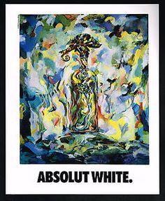 Image is loading 1991-Absolut-Vodka-Bottle-Suzanne-White-Art-Magazine-