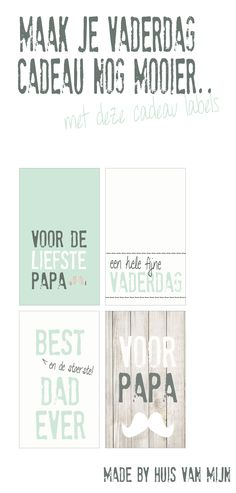 Free Printables Vaderdag cadeau labels Fathers Day Poems, Fathers Day Photo, Fathers Day Cards, Gifts For Father, Printable Labels, Printable Paper, Free Printables, Love You Mum, Diy Presents