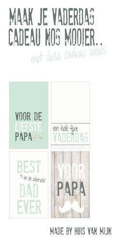 Free Printables Vaderdag cadeau labels