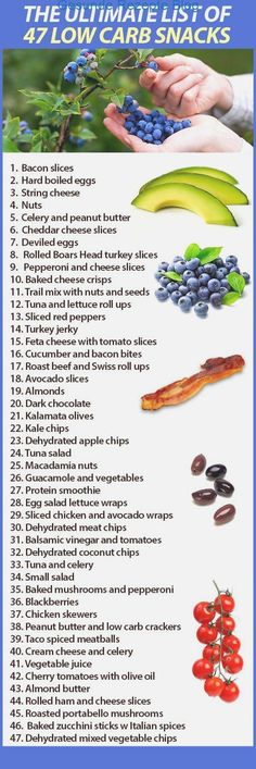 Do you need good, low carb snacks because you are diabetic or paleo dieting? Here is a great list of 47 low carb foods and snacks we came up with that will help. Best Low Carb Snacks, Low Carb Recipes, Diet Recipes, Healthy Snacks, Diet Snacks, Snacks List, Snacks Ideas, Healthy Recipes, Diet Tips