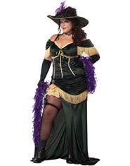 Womens Plus Size Saloon Madame Costume