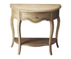 Crafted from mindy hardwood in an urban gray finish, this chic demilune console table makes a stylish perch for a table lamp or a decorative vignette. Narrow Console Table, Entryway Tables, Furniture Decor, Painted Furniture, Classic Dressers, Demilune Table, A Table, Table Lamp, Hardwood