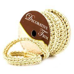 "Golden Yellow 3/8"" Grimp Braid Decorative Trim"