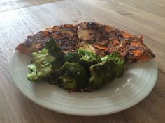 Tortilla zalm met broccoli