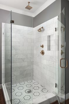 Shower Design Subway Tile And Marble Tile Niche