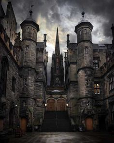 college in Edinburgh evilbuildings Scotland Travel Destinations Scotland Honeymoon Backpack Scotland Backpacking Scotland Scotland Vacation Scotland Photography Eu. Scary Places, Cool Places To Visit, Places To Travel, Beautiful Castles, Beautiful Places, Wonderful Places, Uk And Ie Destinations, Destination Voyage, Scotland Travel