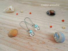 Boucles d'oreille perle nacrée et cristal de swarovski : Boucles d'oreille par couleur-grenadine33