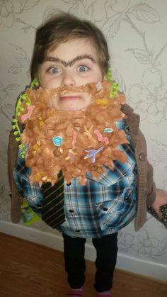 Mr Twit Fancy Dress Beard And Wig By Crafts From The Cwtch