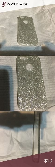 New Silver Glitter IPhone 5/5s case New Silver glitter Hard case / iPhone 5:5s Accessories Phone Cases