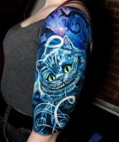 The Cheshire Cat from Alice In Wonderland. Tattoo by Jordan Croke, an artist at … The Cheshire Cat from Alice In Wonderland. Tattoo by Jordan Croke, an artist at Second Skin Tattoo in Derby, England. Diskrete Tattoos, Tattoo Henna, Neue Tattoos, Dark Tattoo, Tatoo Art, Trendy Tattoos, Body Art Tattoos, Tattoo Drawings, Small Tattoos