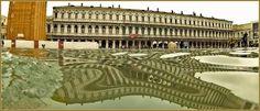 Acqua Alta Venise 1er Nov. 2012: Le lac devant les  Procuratie Nove sur la Piazza San Marco, dans le Sestier de Saint-Marc à Venise.