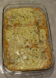Receita de Risoto de palmito e frango gratinado (Risoto Misto).