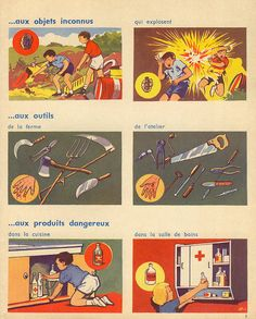 Illustrated tragic accidents in French