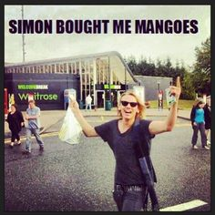 Jace and his mangoes  Only people who have read the City of Fallen Angels Would understand.