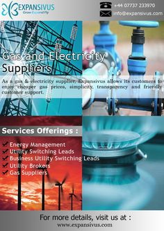 Expansivus acts as a link between energy suppliers, utility brokers and customers, with an incomparable commitment to provide excellent customer service.. For More details please visit here: - www.expansivus.com/energy-and-utilities-services.html or call us: - +44 (0)7737233970.. #EnergyAndUtilities #GasandElectricity #UKEnergyServices
