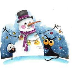 Image result for whimsical winter art