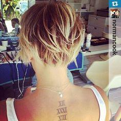 Kaley Cuoco hair cut; the back